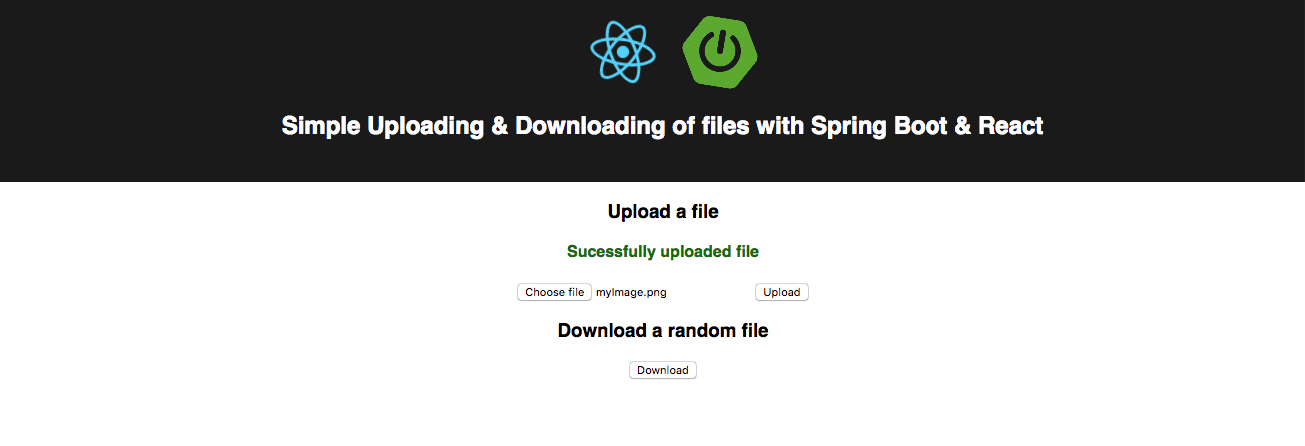 HOWTO: Up- and download files with React and Spring Boot