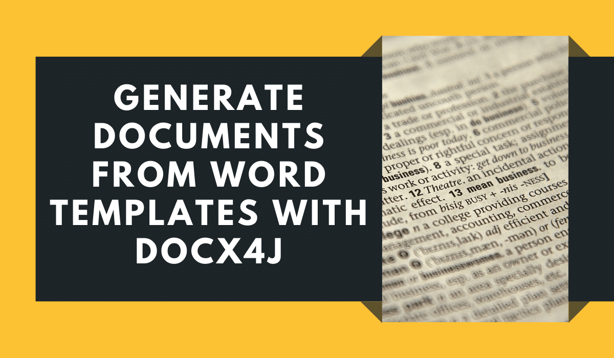 Generate documents from Word templates using Docx4j