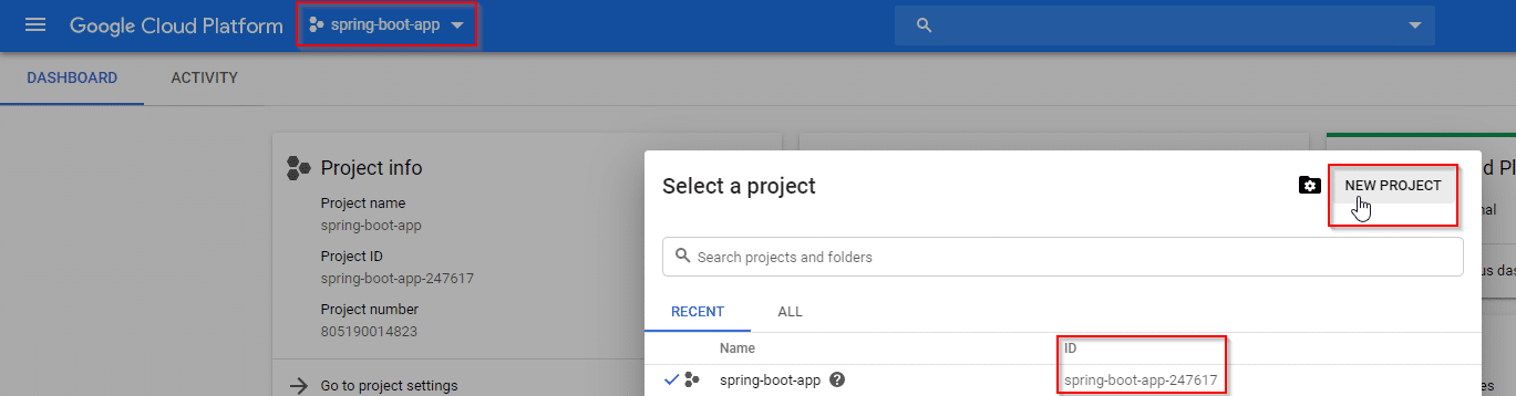 googleCloudConsoleProjectSetupView