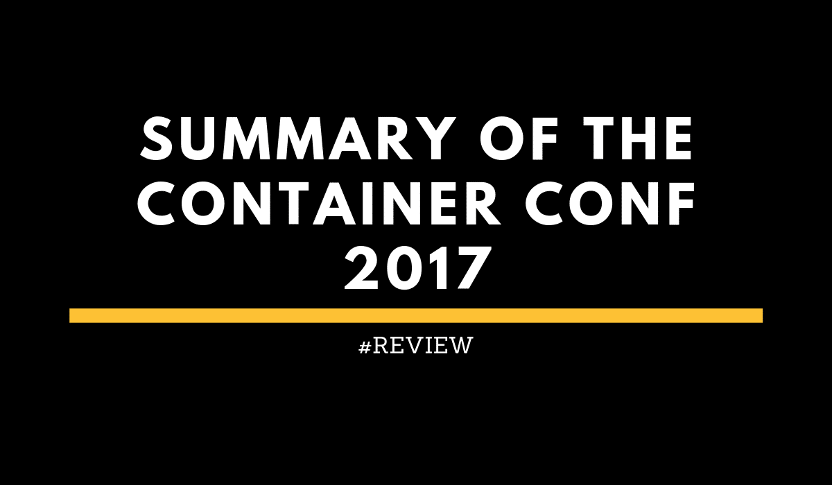 Summary Container Conf 2017