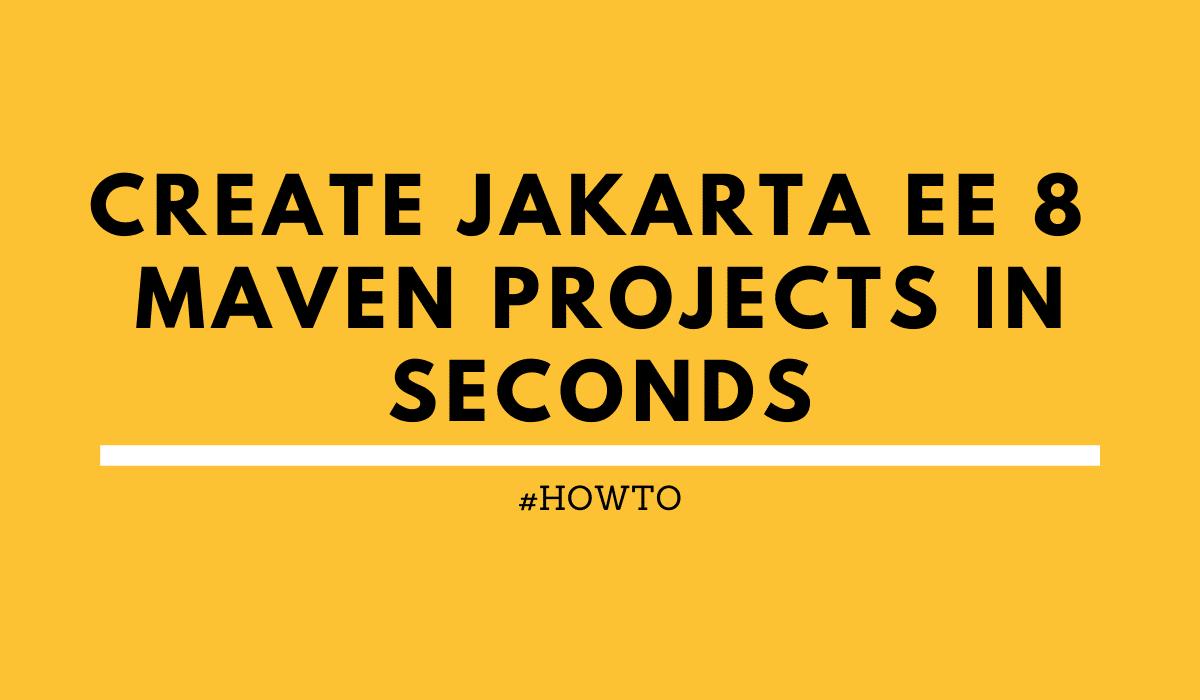 Bootstrap Jakarta EE 8 Maven project