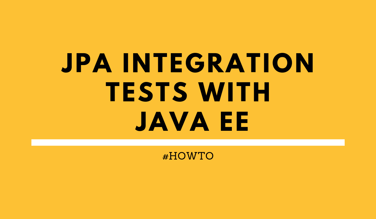 JPA integration tests blog logo