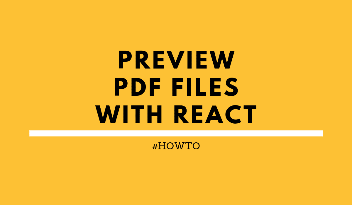 HOWTO: Preview PDF files with React | rieckpil