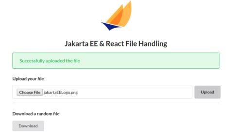 Jakarta EE React File application