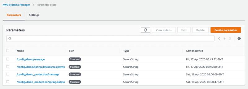 AWS Systems Manager set parameter