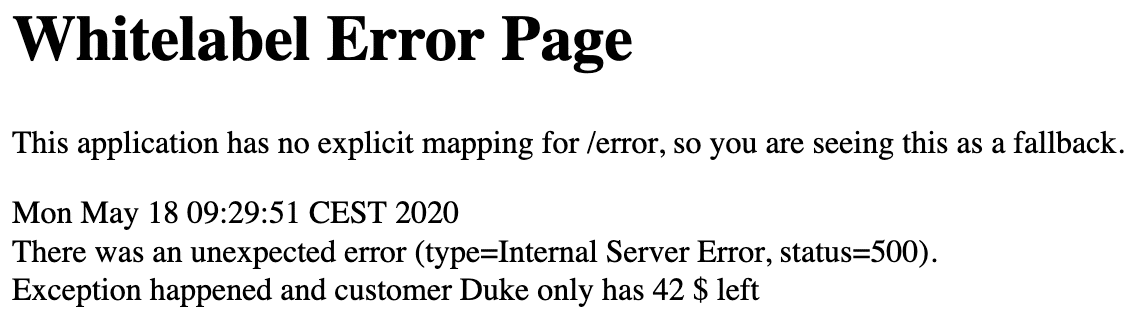 Spring Boot Whitelabel Error Page Before Spring Boot 2.3
