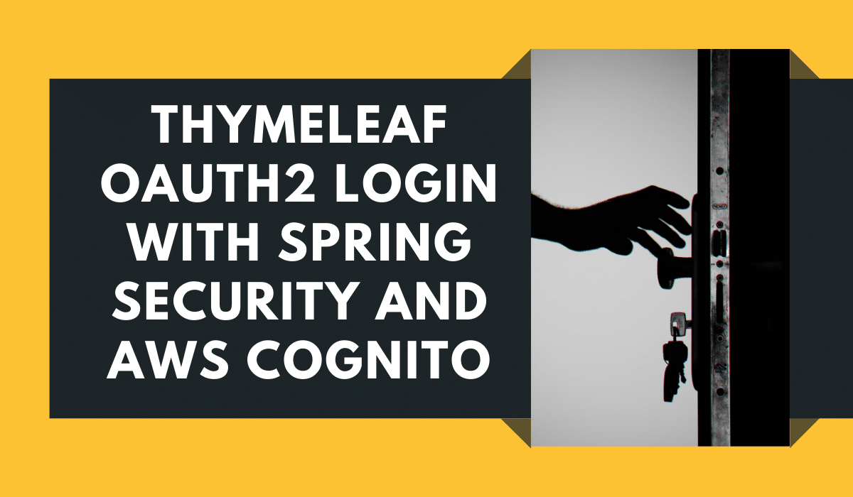 Thymeleaf Spring Security OAuth2 Login with AWS Cognito