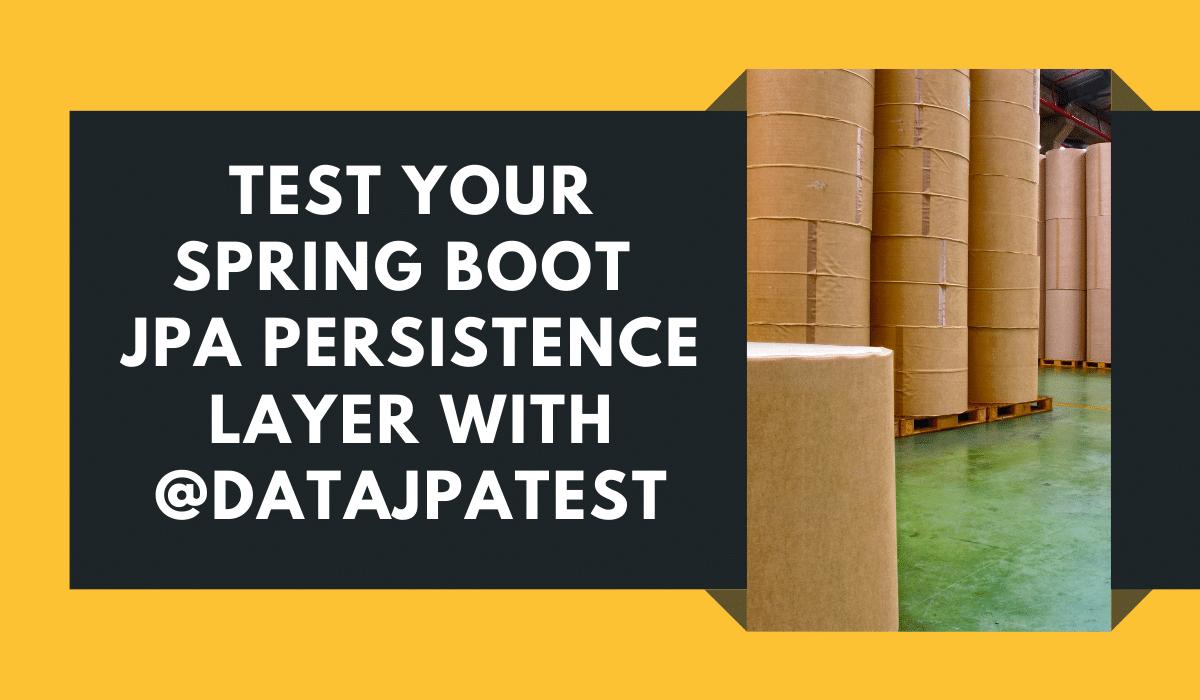 Spring Boot JPA Persistence Layer